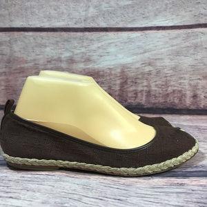 Banana Republic Espadrille Flats Womens Sz 7 Brown